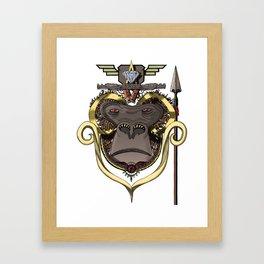 GORILLA SUPREMACY Framed Art Print
