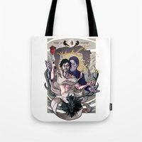 will graham Tote Bags featuring Designing Will Graham by tumblebuggie