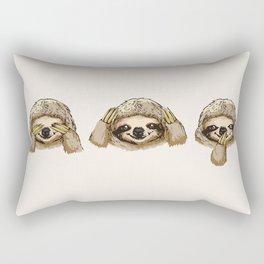 No Evil Sloth Rectangular Pillow