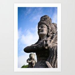 Balinese Statue Art Print