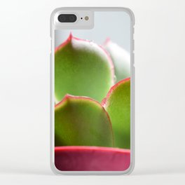 suclent gren plant Clear iPhone Case