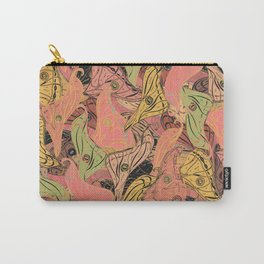 Butterfly Wings - Coral Pink Carry-All Pouch