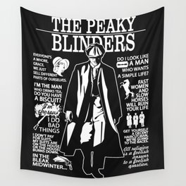 Peaky Quotes Wall Tapestry