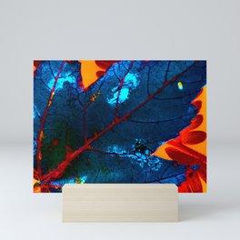 Blue leaf Mini Art Print