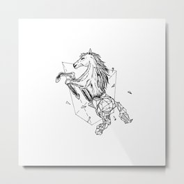 Geometric Season1:7 Horse Metal Print