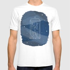 All Of Time And Space MEDIUM White Mens Fitted Tee