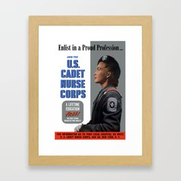 Enlist In A Proud Profession - Join The U.S. Cadet Nurse Corps Framed Art Print