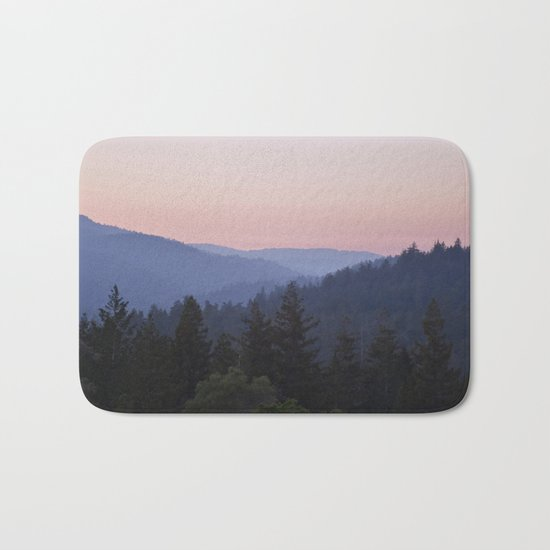 Sunset in the Santa Cruz Mountains Bath Mat