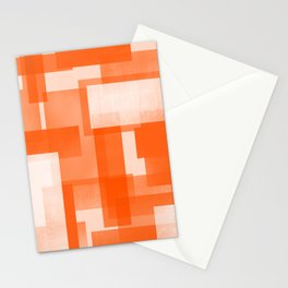 Modern Abstract No. 23   Orange Stationery Cards