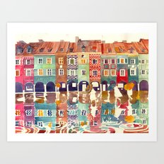 Evening in Poznań Art Print