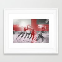 roller derby Framed Art Prints featuring Punchtuation Roller Derby by Vin Zzep