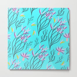 floral ni Metal Print