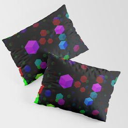 Neon Cubes Pillow Sham