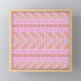 Colorful Geometric Line Work Pattern Framed Mini Art Print