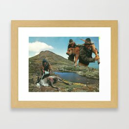 Meat-Fed Grass Framed Art Print