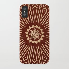 ozorahmi wood mandala iPhone Case