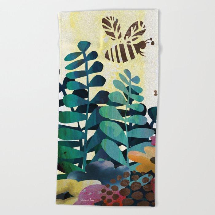 Busy Bees Beach Towel