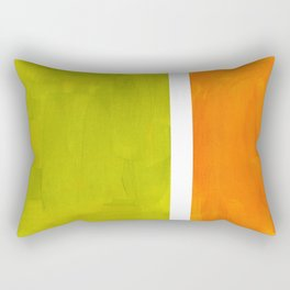 Retro Lime Green Minimalist Abstract Color Block Rothko Midcentury Modern Art Rectangular Pillow
