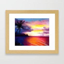 Hanalei Sunset Framed Art Print