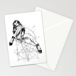 Samael Lilith and the Golden ratio Stationery Cards