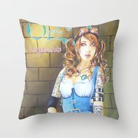 dorothy Throw Pillows featuring Dorothy by marmaseo