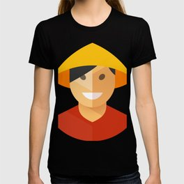 Asian Rice Farmer Icon T-shirt