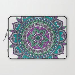 Purple and Green Mandala Art Laptop Sleeve