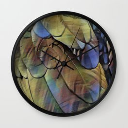 Raven feathers I Wall Clock