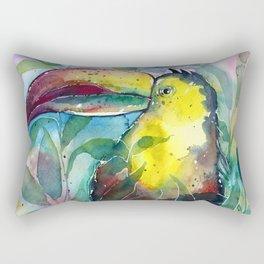 TOUCAN, watercolor illustration (nature) Rectangular Pillow