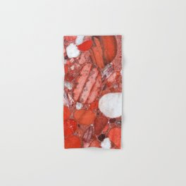 Conglomerate marble pebbles Hand & Bath Towel