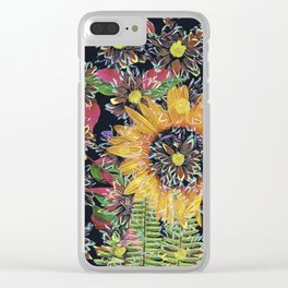Flower Collage 2 Clear iPhone Case