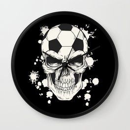 Football Skull - Soccer Skull Wall Clock