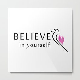 Believe in yourself- little sparrow having faith in its wings Metal Print