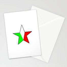 flag of Italia star - Italy,Italia,Italian,Latine,Roma,venezia,venice,mediterreanean,Genoa,firenze Stationery Cards