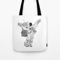 Astronaut Welcoming Visitors Tote Bag