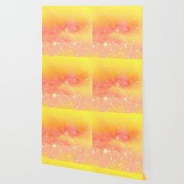 Digital Modern Yellow Abstract Design Wallpaper