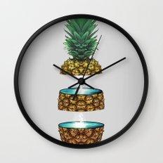 Pineapple Space Wall Clock
