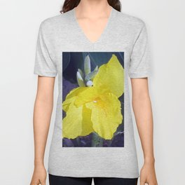 Yellow Canna Lily Flower Unisex V-Neck