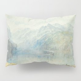 "J.M.W. Turner ""The Lake of Lucerne from Brunnen, with a Steamer"" Pillow Sham"