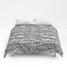 Little mushrooms Comforters