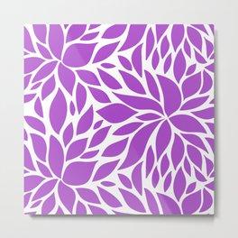 Bloom - Purple Metal Print
