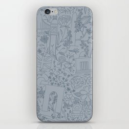DC NYC London - Powder Blue iPhone Skin