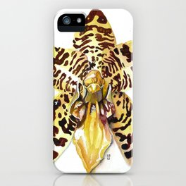 Ansellia Africana Orchid iPhone Case