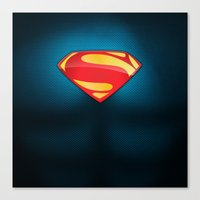 man of steel Canvas Prints featuring Man of Steel Suit by Roboz