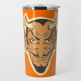 Retro Creepy Halloween Devil Mask Face Travel Mug