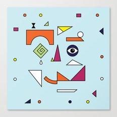 Face Modern (No.1) Canvas Print