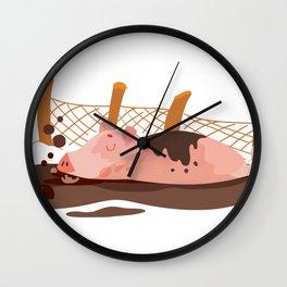 Enjoy the Mud Wall Clock