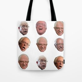 The Many Faces of Bernie Sanders Tote Bag