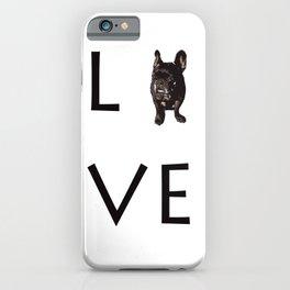 French Bulldog Love Art Print iPhone Case