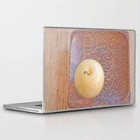 asian Laptop & iPad Skins featuring Asian Pear by Lyssia Merrifield